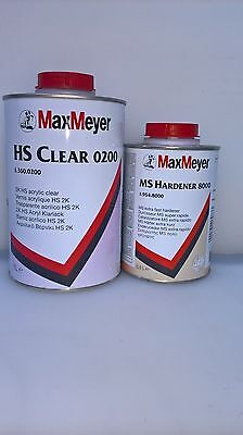 Max Meyer 0200 With 8000 Hardner 2K Clear Coat Car Lacquer 1.5ltr Kit