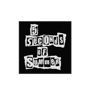 5 Seconds Of Summer Ripped Logo Sew On Patch/Patches NEW OFFICIAL.