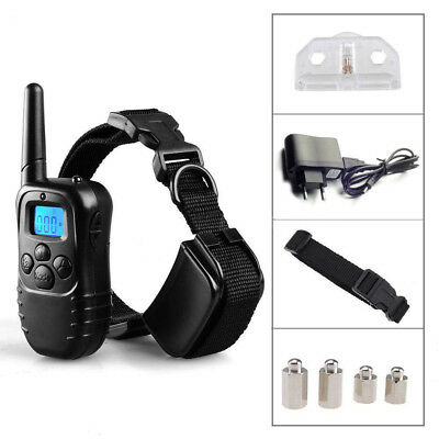 Pet Dog Training Collar Rechargeable Electric LCD 100LV Shock One Collar