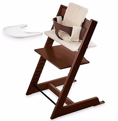 Stokke Tripp Trapp Baby Toddler Feeding High Chair Seat Wood Adjustable to Adult