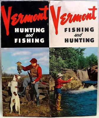 VERMONT HUNTING & FISHING RECREATION TOURISM SOUVENIR BROCHURE GUIDE 1950s
