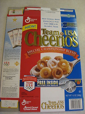 General Mills Team USA Cheerios Empty Box from 1996