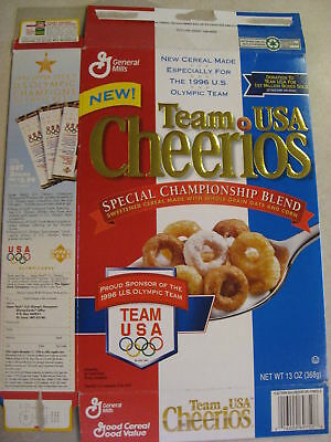 General Mills -Team USA Cheerios Empty Box from 1996