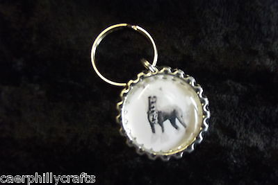 Chinese Crested Keyring by Curiosity Crafts
