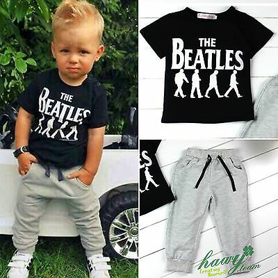 Summer Toddler Kids Baby Boy Short Sleeve T-shirt Pants Outfits Set Tracksuit
