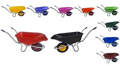 110 Litre WHEELBARROW Garden Equestrian Plastic Body 110L Wheel Barrow Outdoor.
