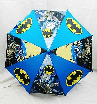 "NWT Batman Kids Umbrella (20"" folded 32"" Open) Sunny or Rainy Day by DC Comics"