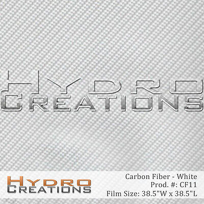 """HYDROGRAPHIC FILM HYDRO DIPPING WATER TRANSFER WHITE CARBON FIBER 38.5"""" x 38.5"""""""