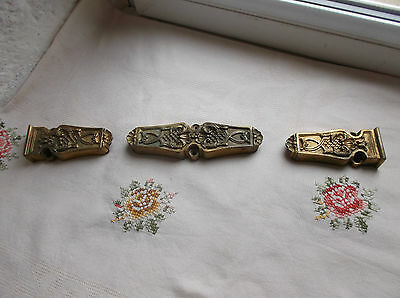 French antique chateau window mounts ornately bronze divine decorative object