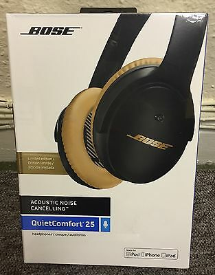 Bose QC25 QuietComfort Acoustic Noise Cancelling *Limited Edition* Black & Gold