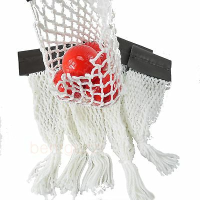 WHITE LEATHERETTES Pocket Nets - Pool Snooker Billiards Table Parts
