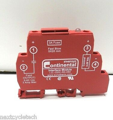 Continental I.O.-ODC-R0-060 3A Fuse Interface Module Solid State Relay
