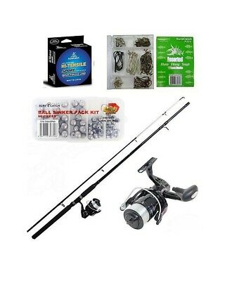 """Shakespeare 6'6"""" 2-6Kg Vigilante Rod & Reel Combo With 200 Pieces of Tackle"""