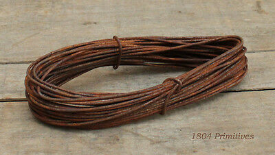 2 coils -- 16 gauge Primitive Rusty Tin WIRE -- 72 ft TOTAL -- Crafts