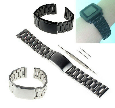 22mm Stainless Steel Solid Metal Watch Band for Pebble Time Watch 501 +Tool US