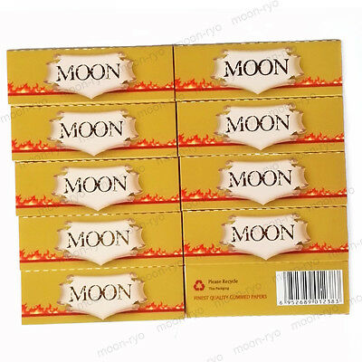 10×40 sheets 1.25 inch Moon Unbleached Hemp Cigarette Tobacco Rolling Papers