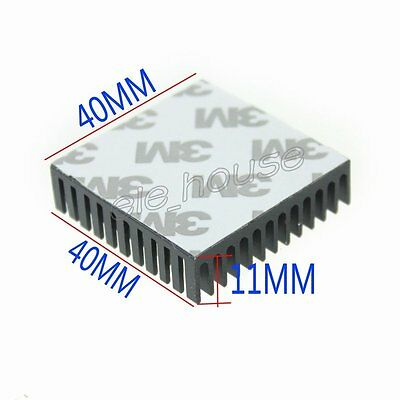 Wholesale Price 1000Lots Aluminum Heatsink 40x40x11mm Cooling for Memory Chip IC
