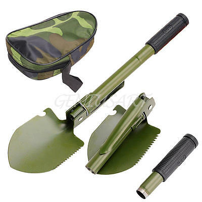 Military Foldable Folding Shovel Survival Spade Outdoor Camping Gardening Tool