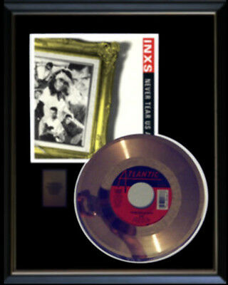 Inxs Never Tear Us Apart Rare Gold Record Disc & 45 Rpm Sleeve
