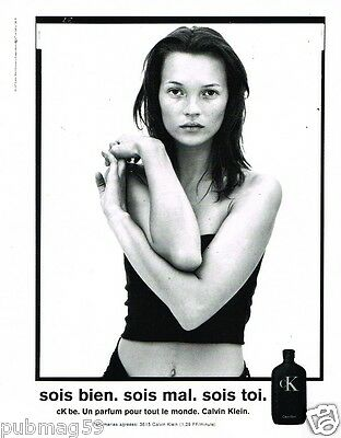 Publicité advertising 1997 Parfum CK be Calvin Klein avec Kate Moss