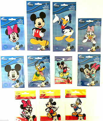 Official Disney Mickey Mouse Minnie Donald Duck Applique Motif Patches Iron On