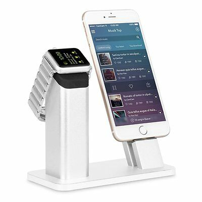 ZIKU iPhone Holder Stand for iPhone X 8/7/6S/6/SE/5 Plus and Apple Watch 3 2