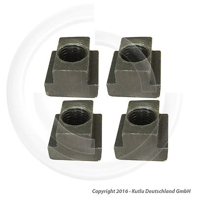 4 Pcs. T-Slot Nuts With M8 Thread