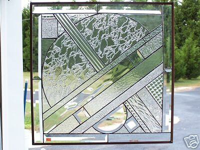clear  beveled & stained glass panel made USA