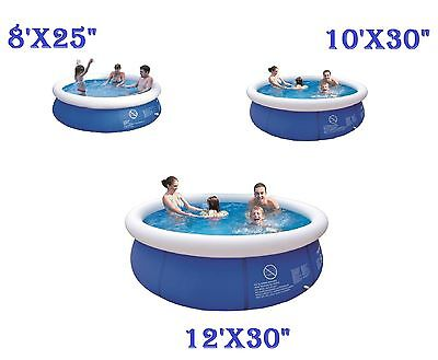 8'10'12' Prompt Set Pool Inflatable Family Swimming Pool Kids Garden Outdoor Fun