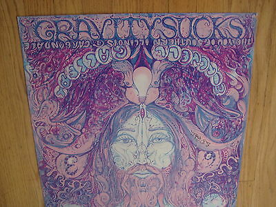 FILLMORE POSTER era LEE CONKLIN GRAVITY SUCKS 1972