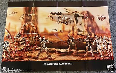 Star Wars Folded Poster Attack of the Clones Hasbro Action Figure Display