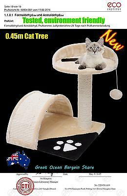 Cat Post Scratching Pole Scratcher 2 Levels Climbing Cat Tree 45cm High