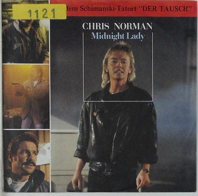 """7"""" Single - Chris Norman - Midnight Lady - s658 - washed & cleaned"""