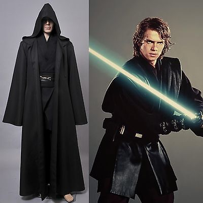 Star Wars Nuovo Anakin Skywalker costume Nero Formato standard Sith Lord cosplay