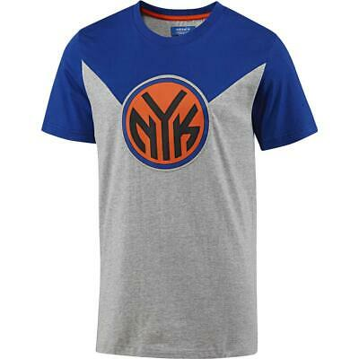 adidas Originals NBA New York Knicks Herren T-Shirt kurzarm Tee Shirt grau/blau