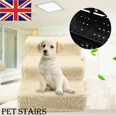 Dog Cat Pet Deluxe STEP Little Older Doggy 3 Steps Stairs with Washable Cover