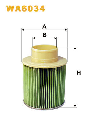 WIX WA6034 Car Air Filter Metal Ends Replaces  CA6543 LX879