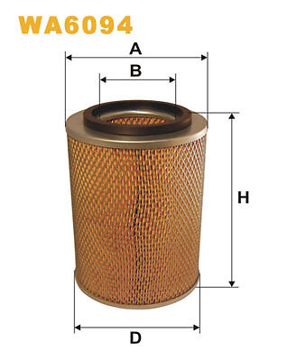 WIX WA6094 Car Air Filter Metal Ends Replaces C17177 CA4219 LX99