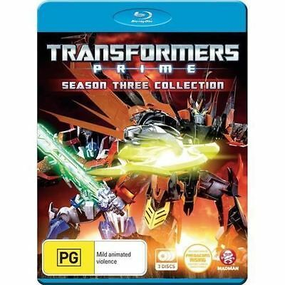 Transformers Prime Season 3 Collection Blu Ray Region 2 New Sealed