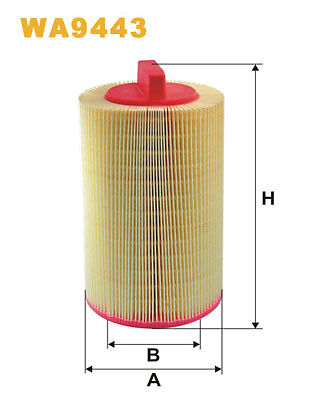 WIX WA9443 Car Air Filter Plastic Ends Replaces C14114 CA9680 LX1277