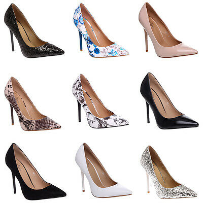 Womens Ladies Stiletto Pointed Formal Wedding Party Casual Work Court Shoes Size