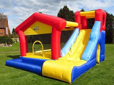 BeBop Lookout Large Garden Inflatable Bouncy Castle And Big Slide For Kids