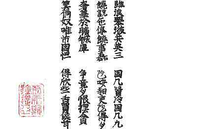 Chinese calligraphy - Vietnamese poem (1380-1422) Nguyen Trai - Copy in A4 paper