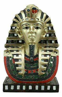 Egyptian Legend Pharaoh King Tut Tutankhamun Bust Home Decor Figurine Statue