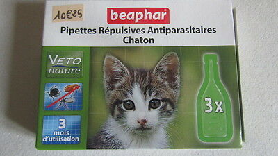 pipettes antiparasitaires chaton