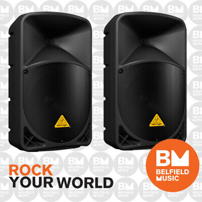 2 x Behringer EUROLIVE B112D Active PA Speaker 2-Way 1000W 12'' Inch Pair