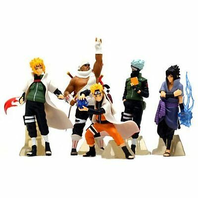 HOT Anime Naruto Set 5 pcs Figures Collection Kakashi Uzumaki Sasuke Model