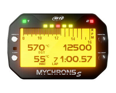 AIM Mychron 5 GPS Datalogger Unit, Water Temp Sensor & RPM Lead UK KART STORE