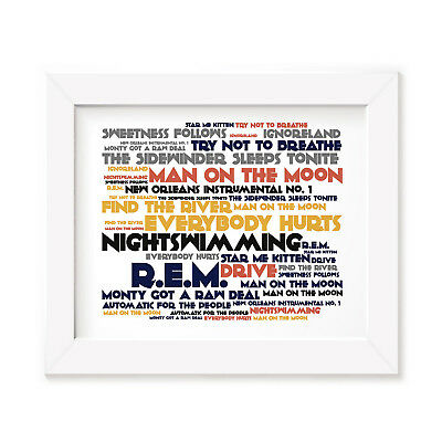 `Cadence` REM Art Print Typography Album Song Lyrics Signed Numbered Wall Poster