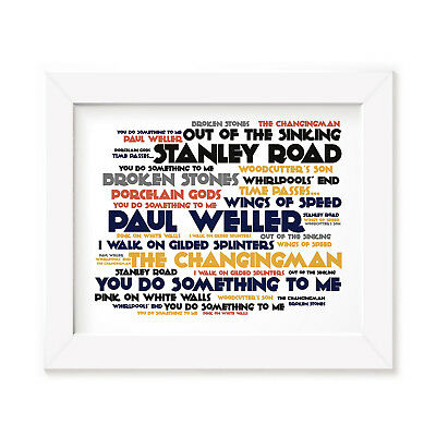 `Cadence` PAUL WELLER Art Print Typography Album Song Lyrics Signed Wall Poster